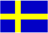 Sweden National Flag Poster Print Posters