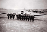 Tuskegee Airmen at Attention Archival Photo Poster Masterprint