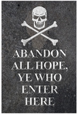 Abandon All Hope Ye Who Enter Here Pirate Print Poster Pósters