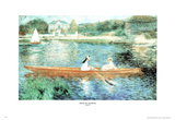 Pierre Auguste Renoir Seine At Asnieres Boat Lake Art Print Poster Photo