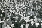 New York City Times Square Crowd Celebrating New Years Archival Photo Poster Print Masterprint