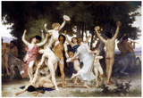 William-Adolphe Bouguereau The Youth of Bacchus Art Print Poster Posters