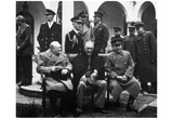 Leaders of World War 2 (Winston Churchill, Franklin Delano Roosevelt, Joseph Stalin) Poster Photo