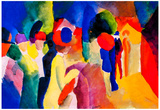 August Macke With Yellow Jacket Art Print Poster Photo