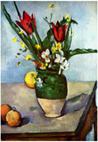 Paul Cezanne Still Life Tulips and Apples Art Print Poster Prints