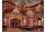 The New Gambling Room Monte Carlo,Riviera Art Print Poster Prints