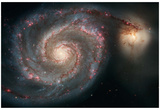 Out of This Whirl: the Whirlpool Galaxy M51 and Companion Galaxy Space Photo Art Poster Print Kunstdrucke