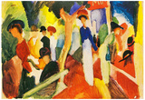 August Macke Hat Shop at the Promenade Art Print Poster Posters