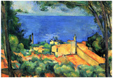Paul Cezanne l'Estaque with Red Roofs Art Print Poster Prints