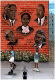 Black History African American MLK Jr. Malcolm X Art Poster Plakát