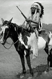 Native American on Horseback Archival Photo Poster Print Masterprint