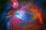 Orion Nebula Enhanced Space Photo Poster Print Poster