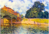 Alfred Sisley Bridge on Hampton Court Art Print Poster Posters