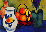 August Macke White Jug with Flowers and Fruits Art Print Poster Masterprint