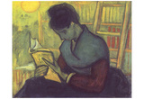 Vincent Van Gogh (The novel reader) Art Poster Print Posters