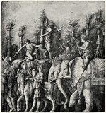 Andrea (School) Mantegna (The triumph of Julius Caesar, The Elephant) Art Poster Print Masterprint