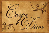 Carpe Diem Seize the Day Wood Carving Poster Masterprint