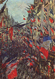 Claude Monet (Paris, Rue Saint-Denis, Celebration of National Day) Art Poster Print Masterprint