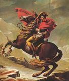 Jacques-Louis David (Napoleon Crossing the Alps) Art Poster Print Masterprint