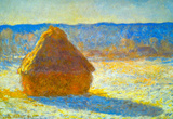 Claude Monet Haystacks in Snow Art Print Poster Masterprint