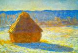 Claude Monet Haystacks in Snow Art Print Poster Masterprint