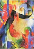 Franz Marc Broken Forms Art Print Poster Prints