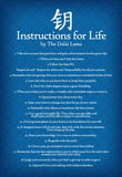 Dalai Lama Instructions For Life Blue Motivational Poster Art Print Masterprint
