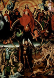 Hans Memling (The recent court, Triptych, Middle panel: Maiestas Domini and Archangel Michael with Masterprint