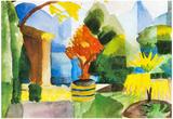 August Macke Garden in Hilterfingen Art Print Poster Posters