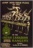 Irish Canadian Rangers Enlist War Propaganda Vintage Ad Poster Print Print