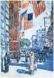 Childe Hassam Flags Fifth Avenue Art Print Poster Print