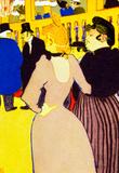 Henri de Toulouse-Lautrec At the Moulin Rouge la Goulue and her Sister Art Print Poster Masterprint