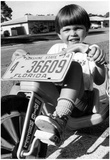Boy on Big Wheel Bike 1974 Archival Photo Poster Posters