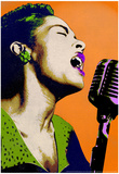 Billie Holiday Orange Pop Art Music Poster Poster