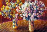 Claude Monet Two Vases with Chrysanthemums Art Print Poster Masterprint