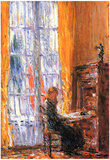 Childe Hassam At the Desk Art Print Poster Posters