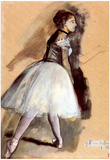 Edgar Degas Dancer in Step Position Art Print Poster Prints