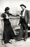 Bonnie and Clyde Archival Photo Poster Print Masterprint