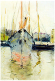Berthe Morisot Midina at the Entrance to the Isle of Wight Art Print Poster Poster