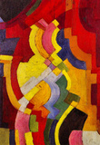 August Macke Colored Forms (III) Art Print Poster Masterprint