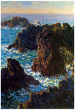 Claude Monet Rocky Peaks at the Belle-Ile Art Print Poster Poster