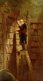Carl Spitzweg (The bookworm) Art Poster Print Masterprint