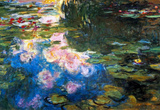 Claude Monet Water Lillies  4 Art Print Poster Masterprint