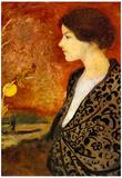 August Macke Portrait of Elisabeth Gerhardt Art Print Poster Print