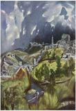El Greco (View of Toledo Hillside) Art Poster Print Posters