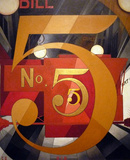 Charles Demuth (Figure 5 in Gold) Art Poster Print Masterprint