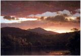 Frederick Edwin Church Twilight (Catskill Mountain) Art Print Poster Posters
