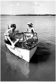 Boaters 1964 Archival Photo Poster Poster