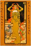 Cincinnati Fall Festival 1903 Vintage Ad Poster Print Posters