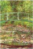 Claude Monet Bridge Over the Water Lily Pond Art Print Poster Print